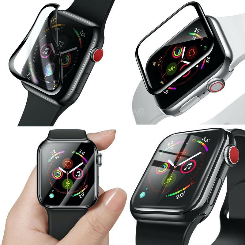Baseus Full Screen Curved Tempered Glass Soft Screen Protector Ap Watch 44mm (3)