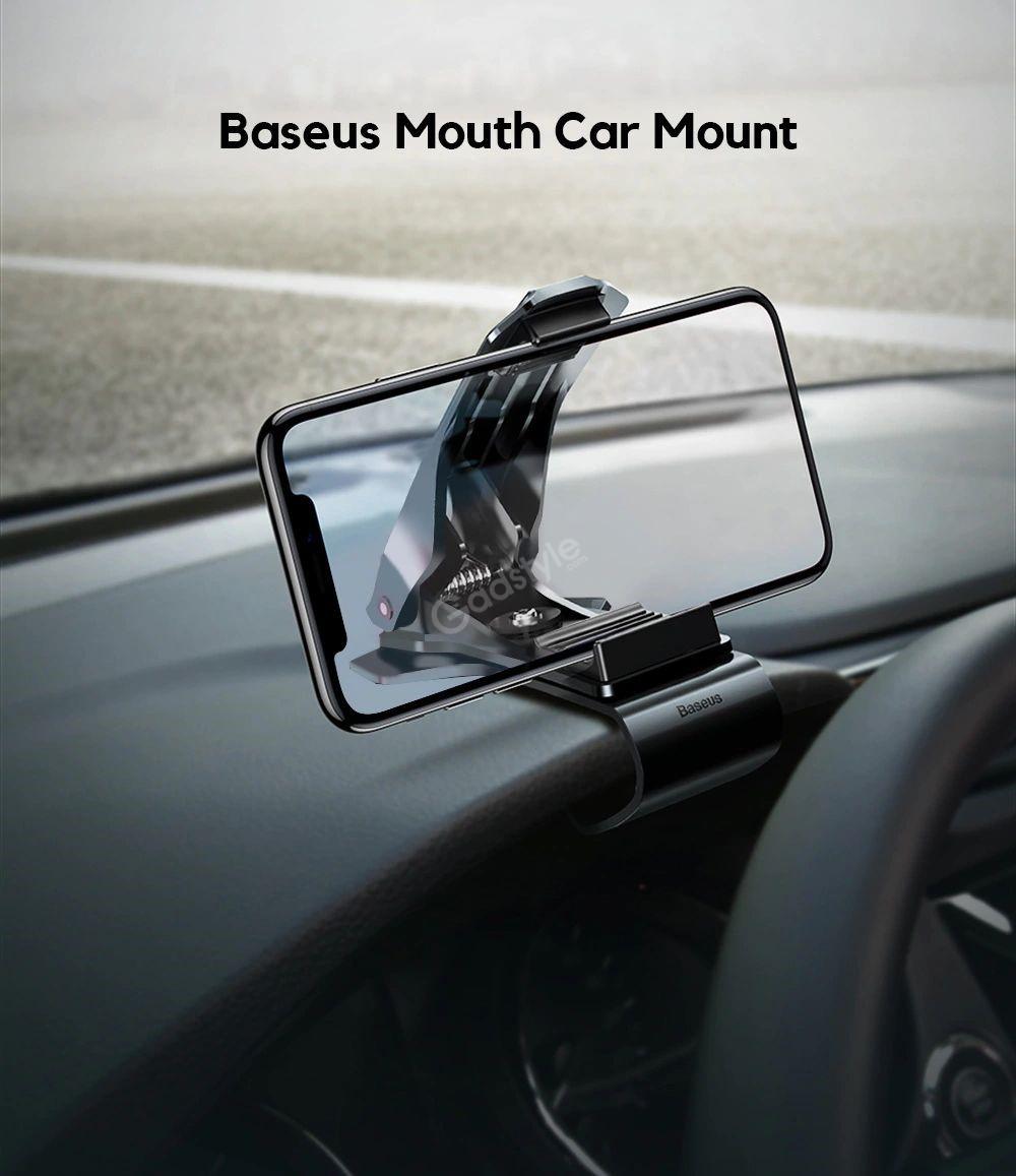 Baseus Mouth Dash Mount Car Holder For Smartphones (1)