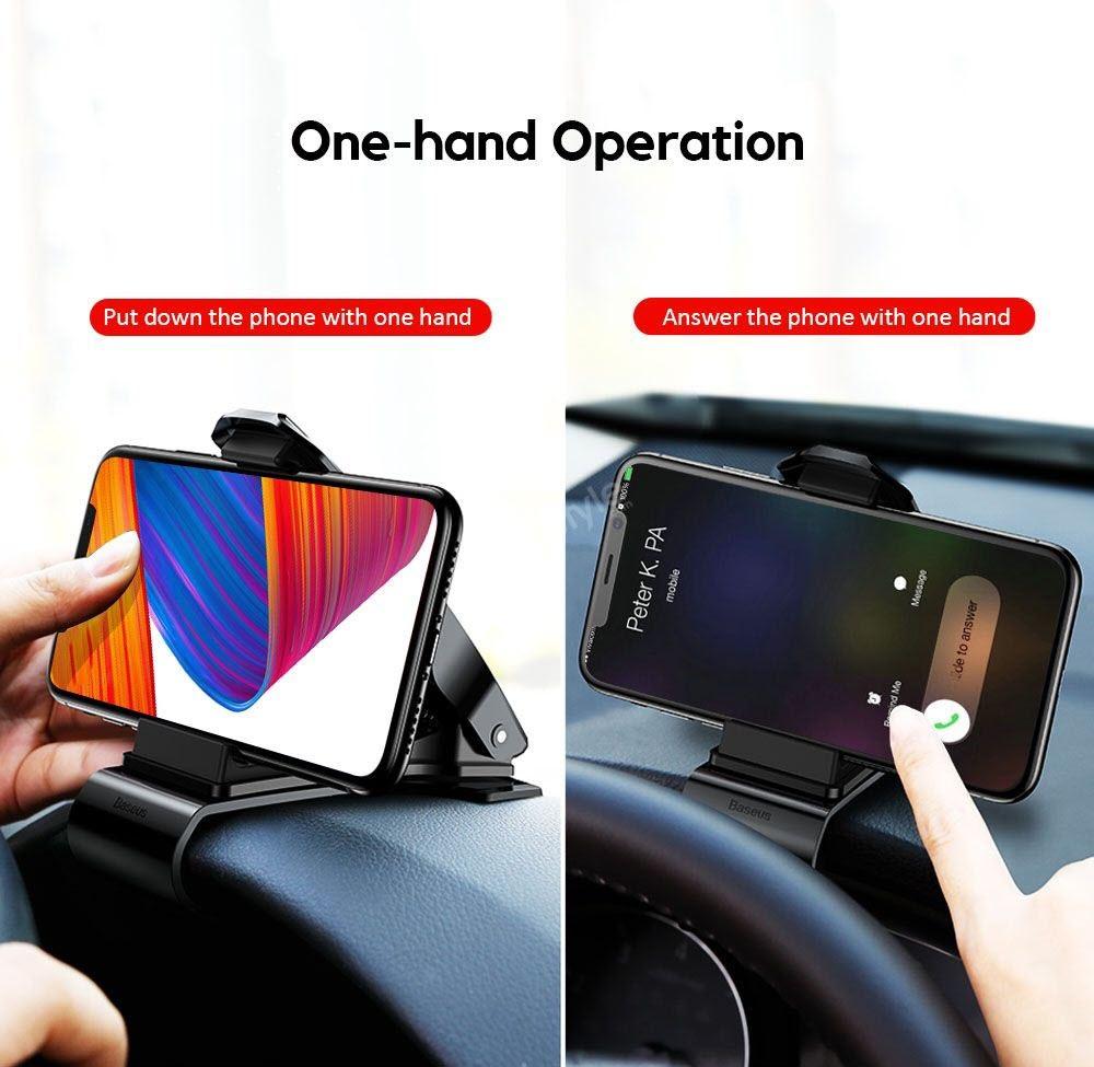 Baseus Mouth Dash Mount Car Holder For Smartphones (2)