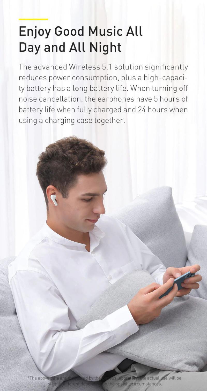 Baseus Simu S1 Pro Anc True Wireless Earphones Blue (1)