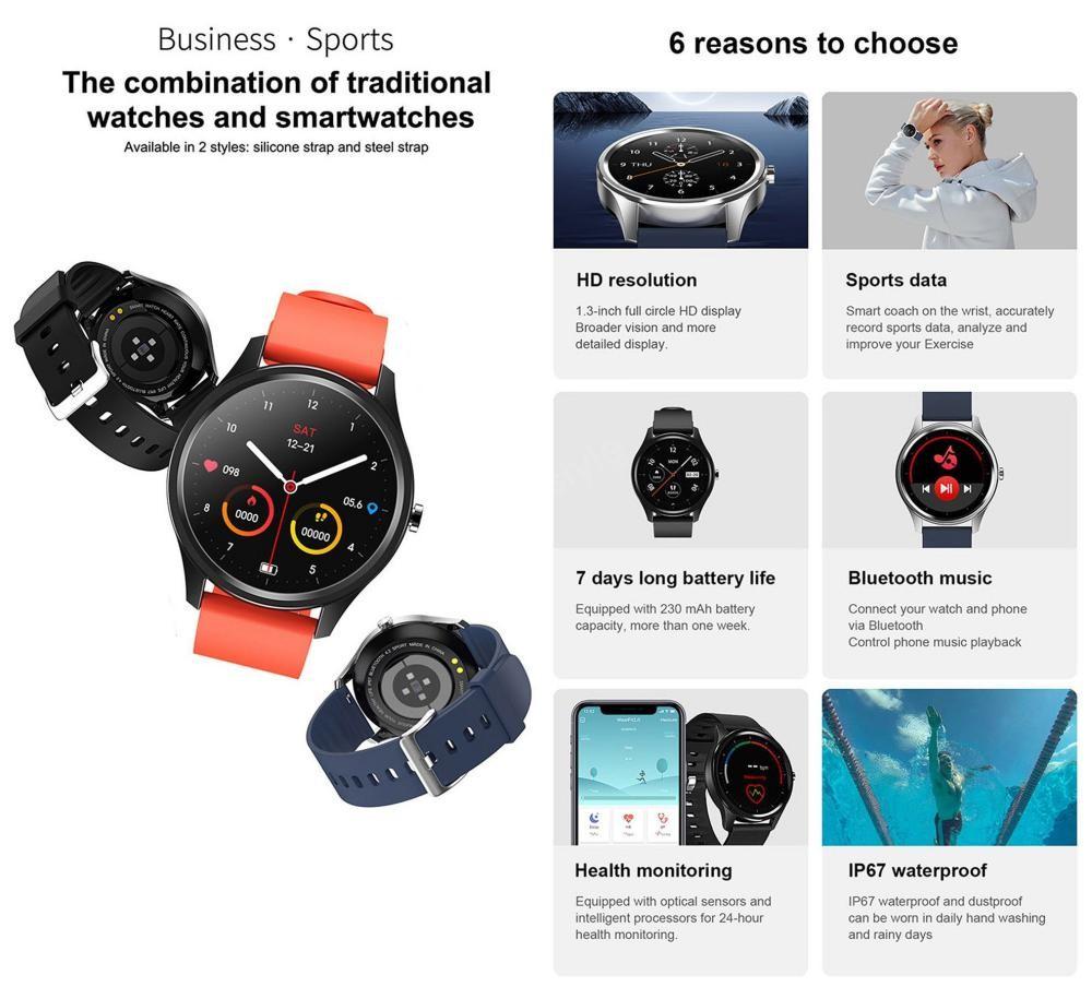 Dt55 Smart Watch Intelligent Waterproof Sports Watch (4)