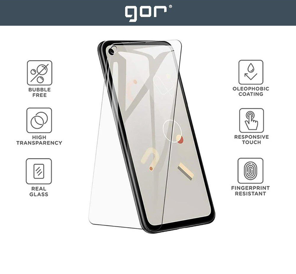 Gor 9h Tempered Premium Glass Screen Protector For Google Pixel 4a 2pcs (3)