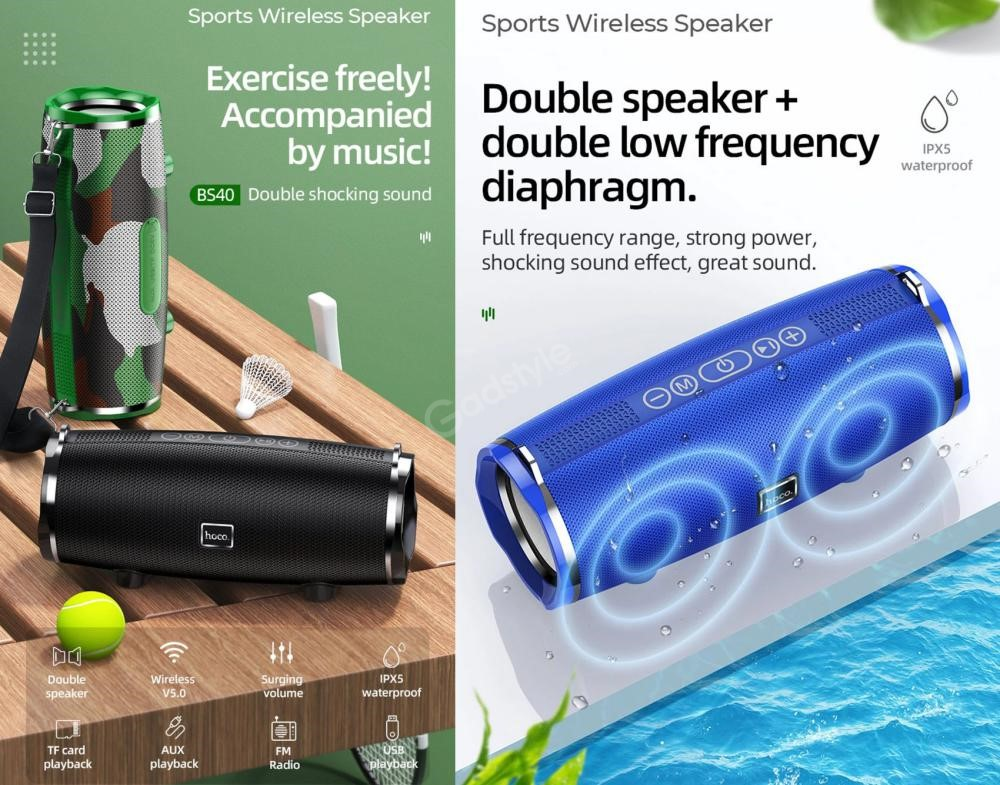 Hoco Bs40 Desire Waterproof Bt V5 0 Wireless Bluetooth Speaker (3)