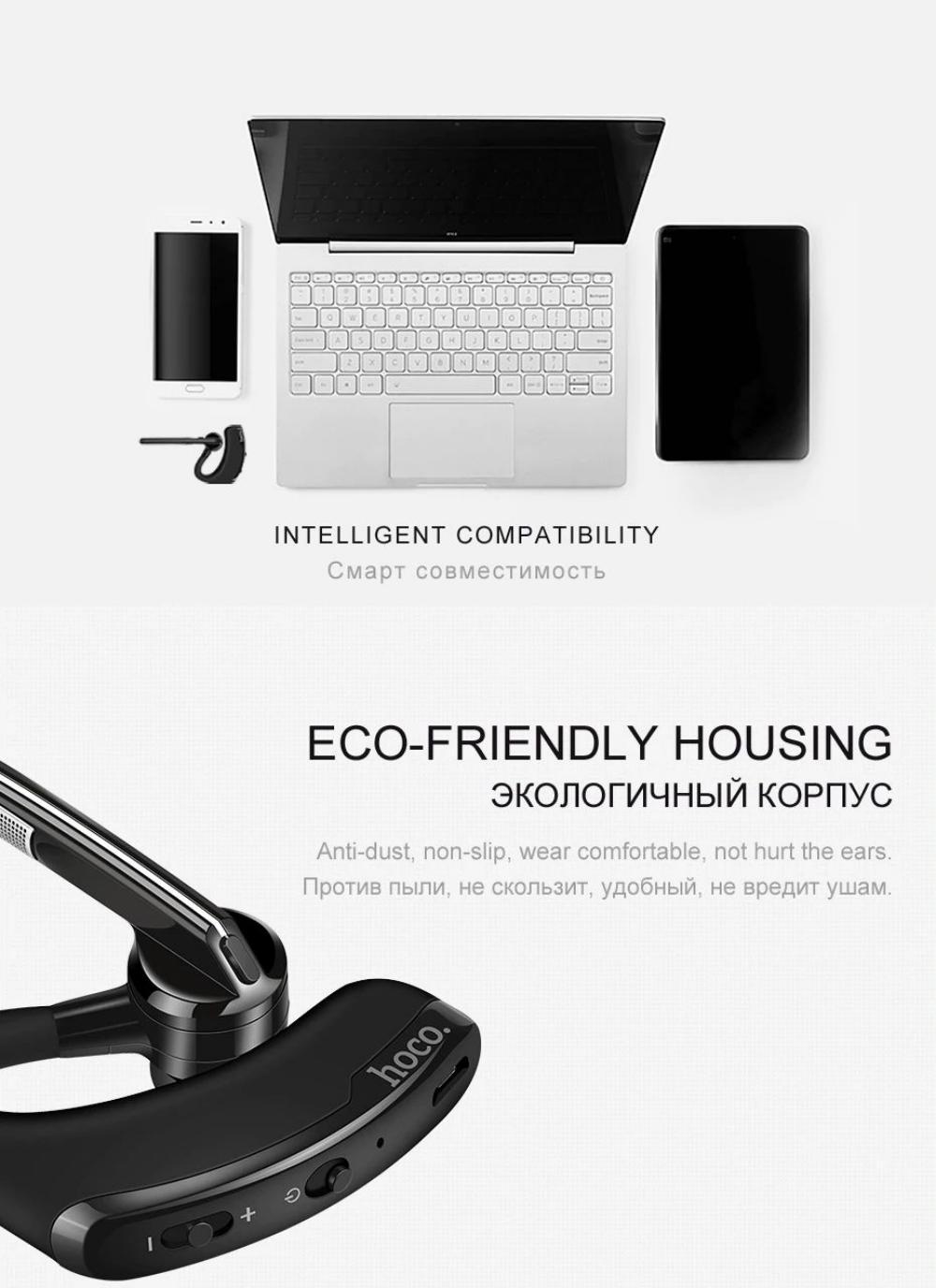 Hoco E15 Wireless Sport Stereo Earphone Bluetooth Single Headset (5)