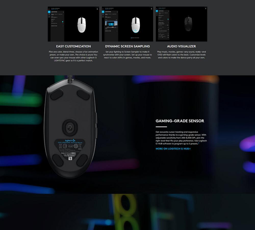 Logitech G102 Lightsync Rgb 6 Button Gaming Mouse (3)