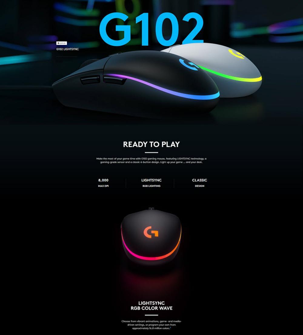 Logitech G102 Lightsync Rgb 6 Button Gaming Mouse (4)