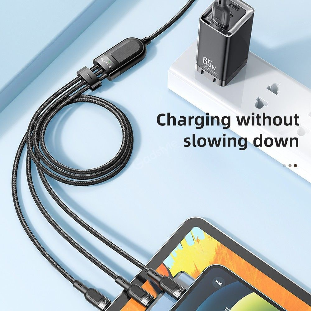 Mcdodo 3in1 Superfast 5a Braided Charging Cable (9)