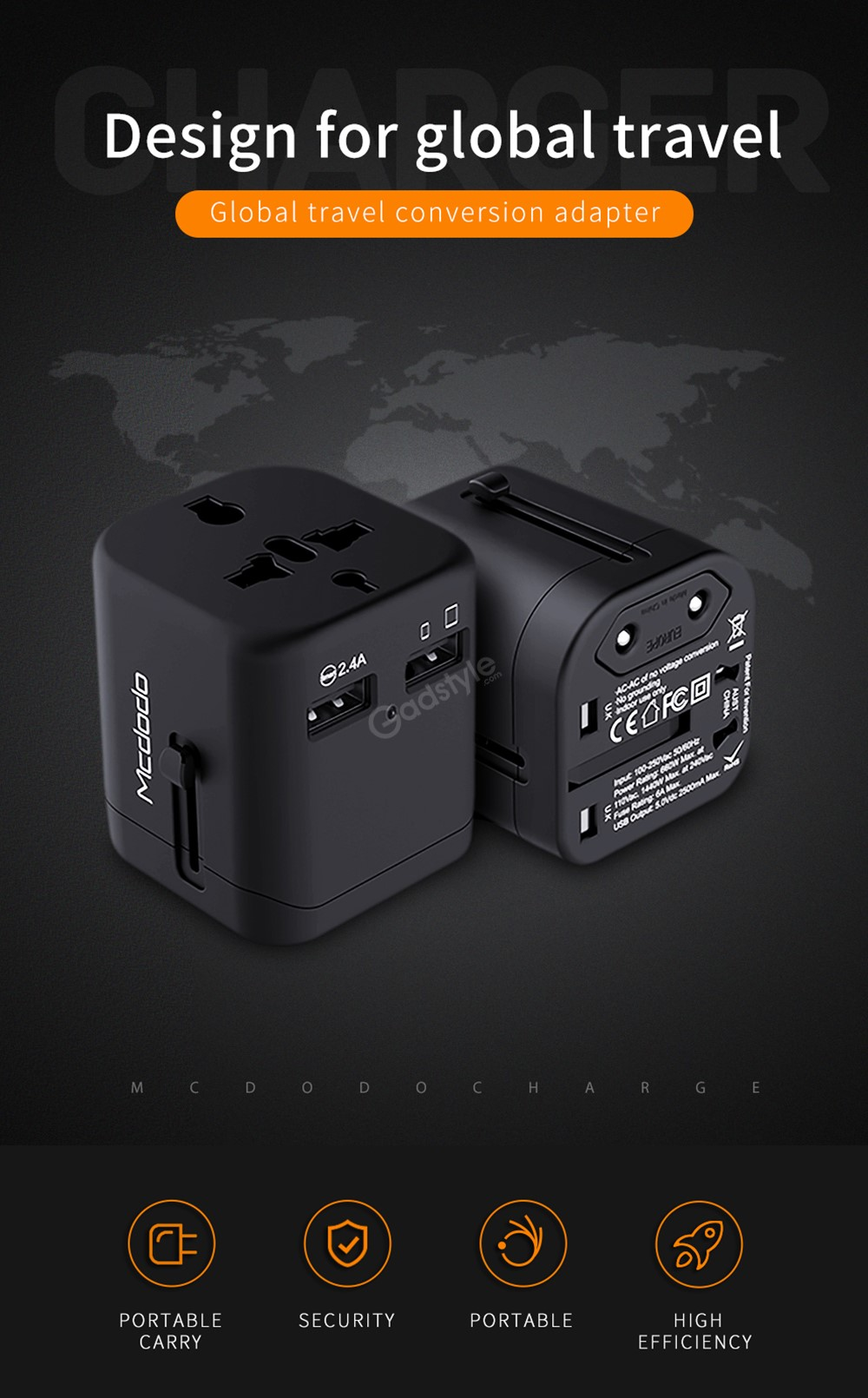 Mcdodo Cp 4380 International Travel Power (2)