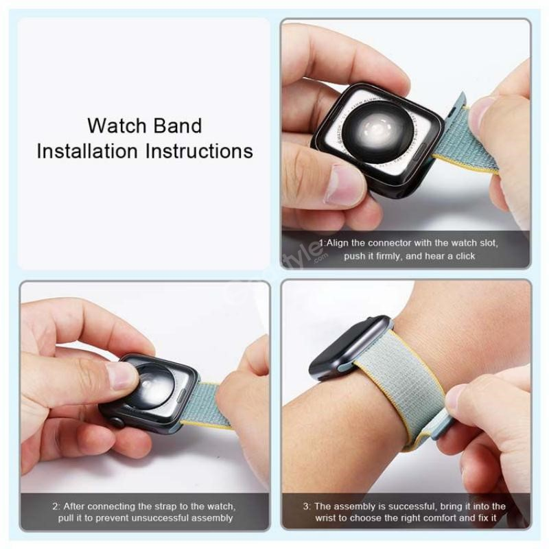 Naylon Braided Loop Watch Strap For 42 44mm (2)