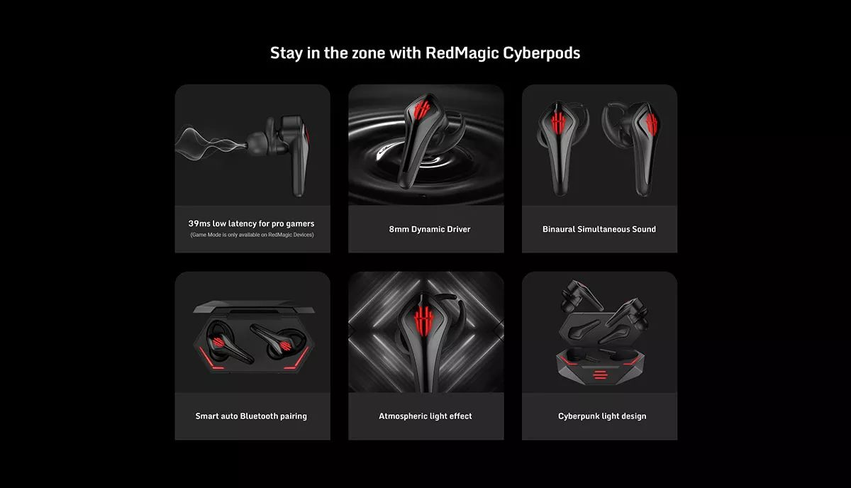 Nubia Red Magic Cyberpods Tws Gaming Earbuds (3)