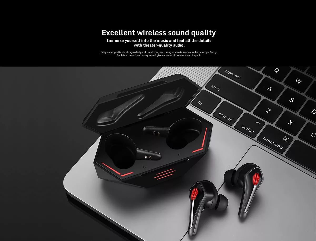 Nubia Red Magic Cyberpods Tws Gaming Earbuds (7)