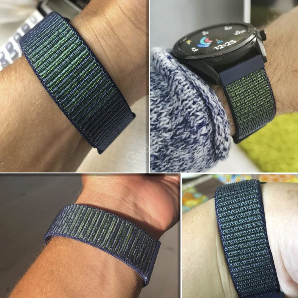 Nylon Braided Loop Watch Strap For 20 22mm (1)