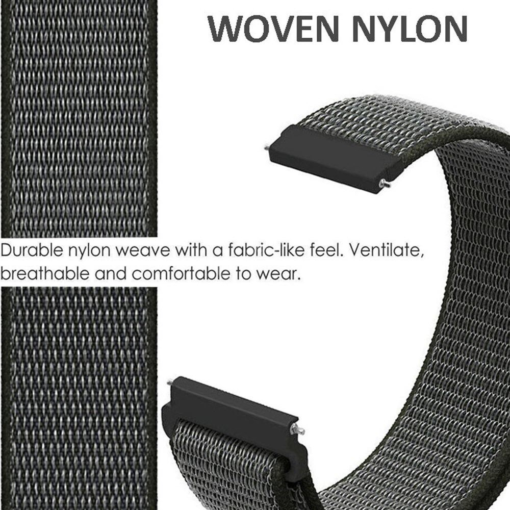 Nylon Braided Loop Watch Strap For 20 22mm (6)