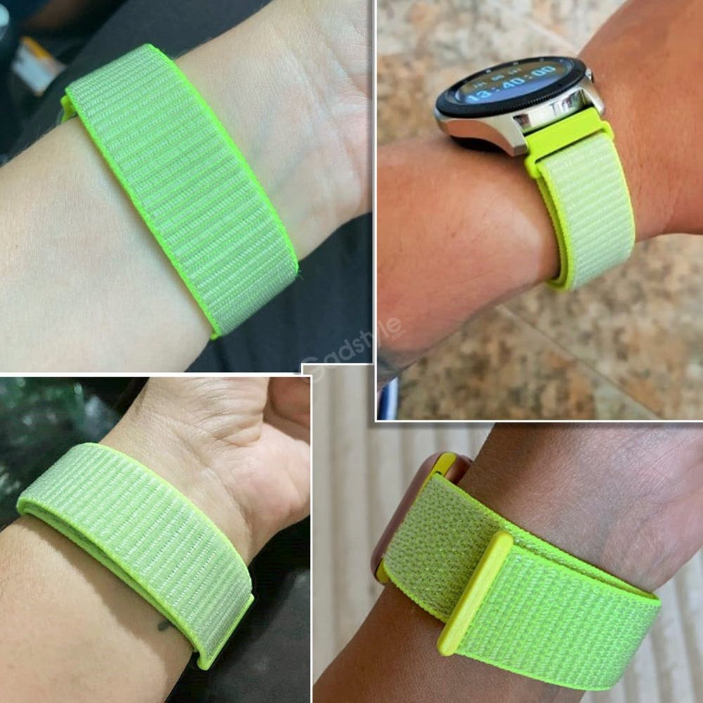 Nylon Braided Loop Watch Strap For 20 22mm (8)