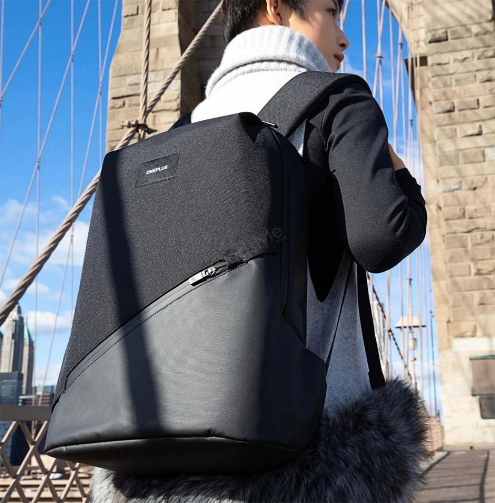 Oneplus Urban Traveler Backpack Charcoal Black (1)