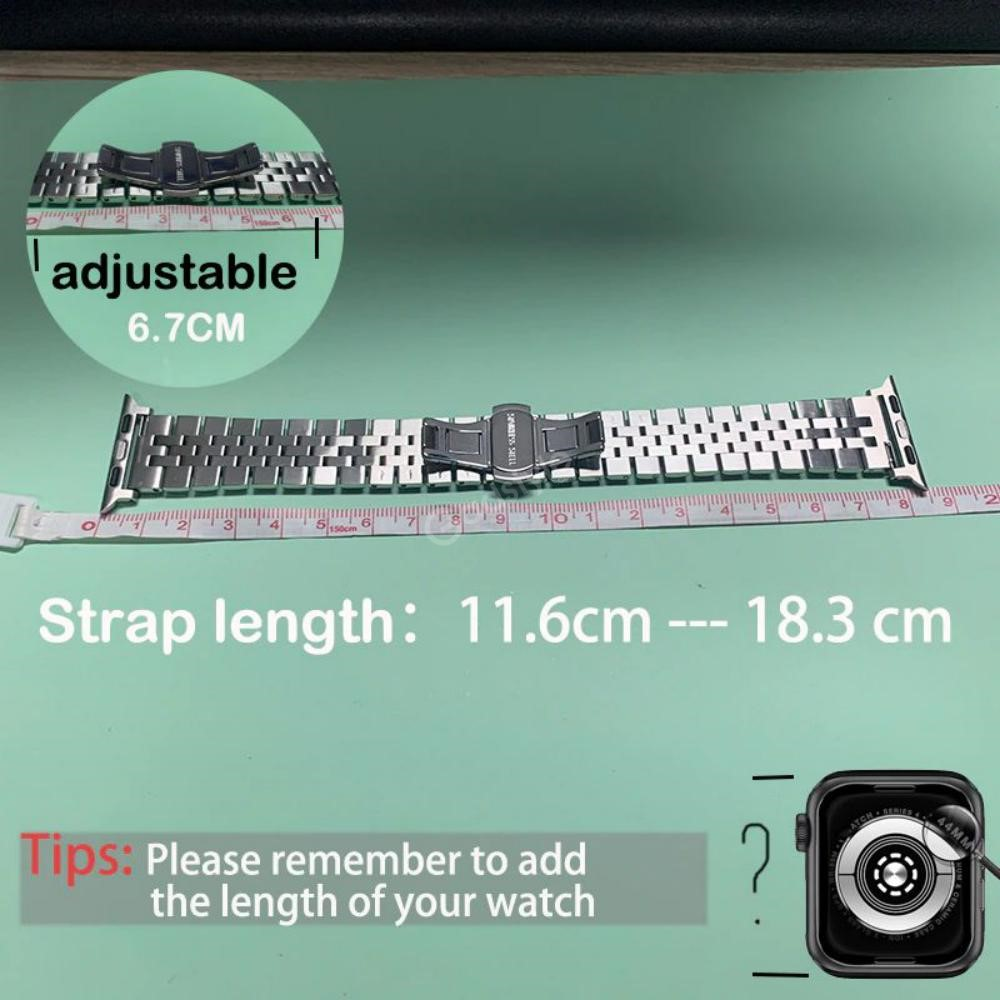 Premium Stainless Steel Strap For Apple Watch 42 44mm (1)
