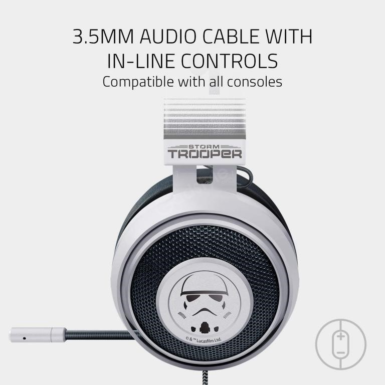 Razer Kraken Stormtrooper Edition Multi Platform Wired Gaming Headset (1)