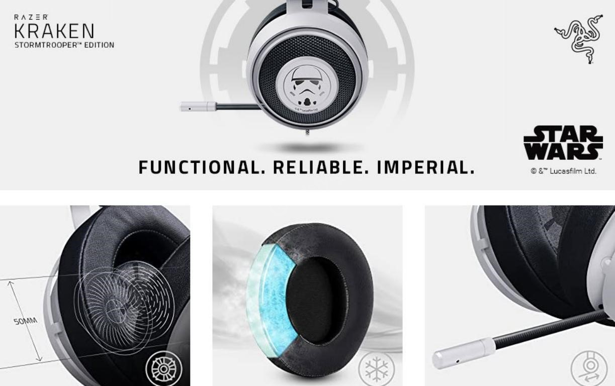 Razer Kraken Stormtrooper Edition Multi Platform Wired Gaming Headset (4)