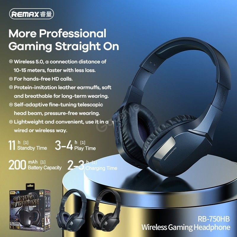 Remax Rb 750hb Wireless Gaming Headphone (2)
