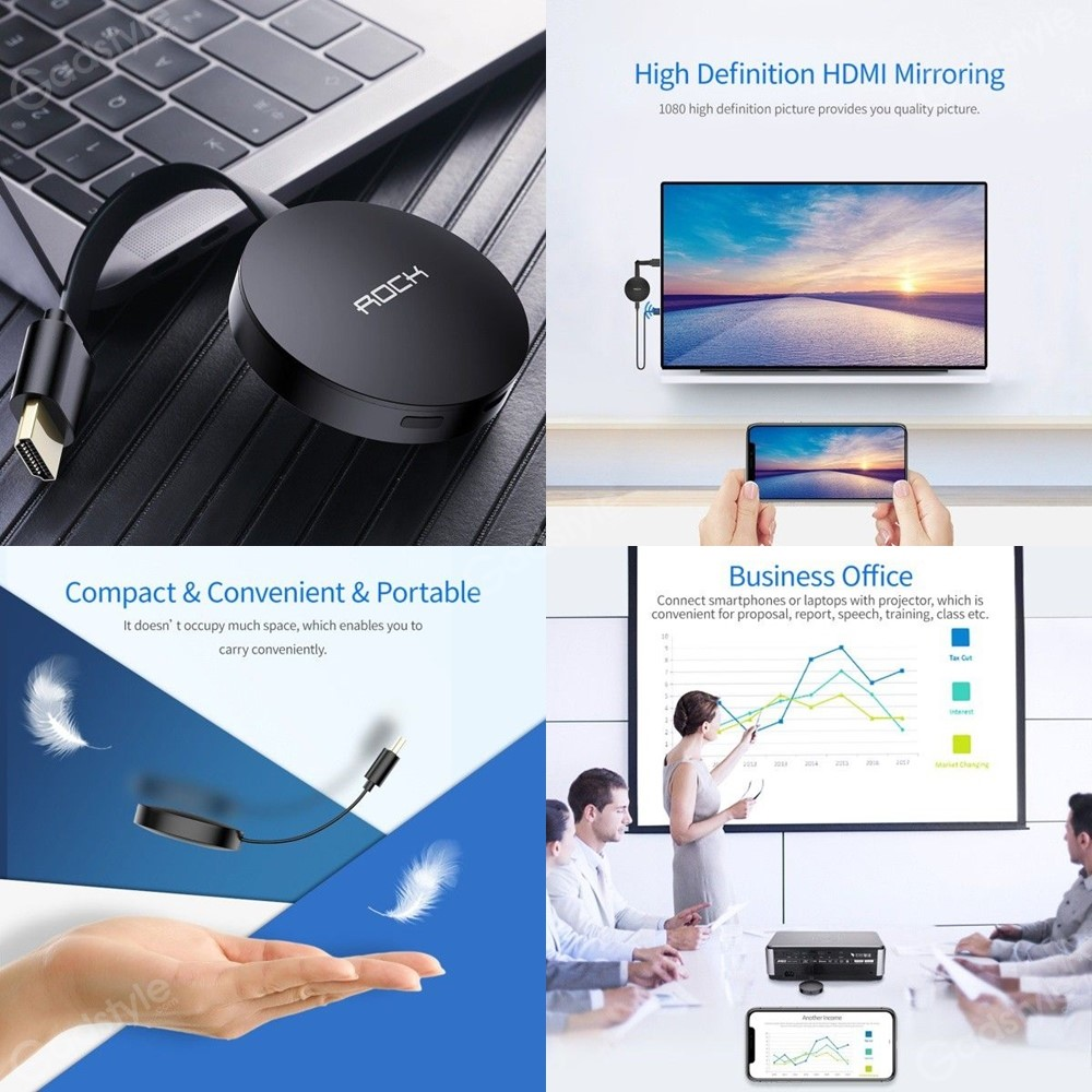 Rock Wifi Display Dongle With Hdmi Port (3)