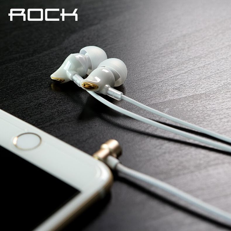 Rock Zircon Stereo Earphone 3 5mm In Ear Earphone White (2)