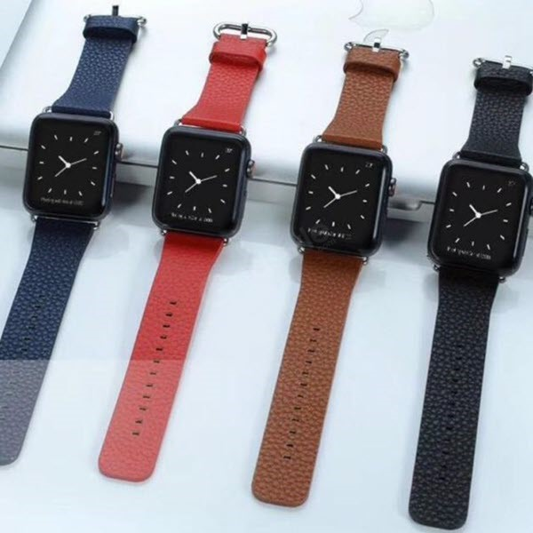Soft Leather Strap Band For Apple Watch 42 44 Mm (1)