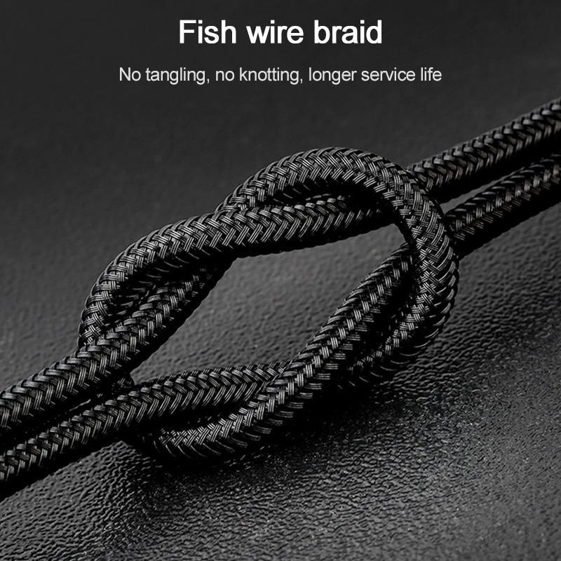 Wiwu Elite Series Ed 101 Type C Interface Nylon Braided Fast Charging Data Cable 3 Meter (2)