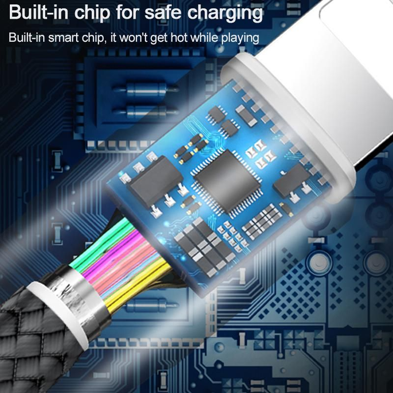 Wiwu Elite Series Ed 101 Type C Interface Nylon Braided Fast Charging Data Cable 3 Meter (5)