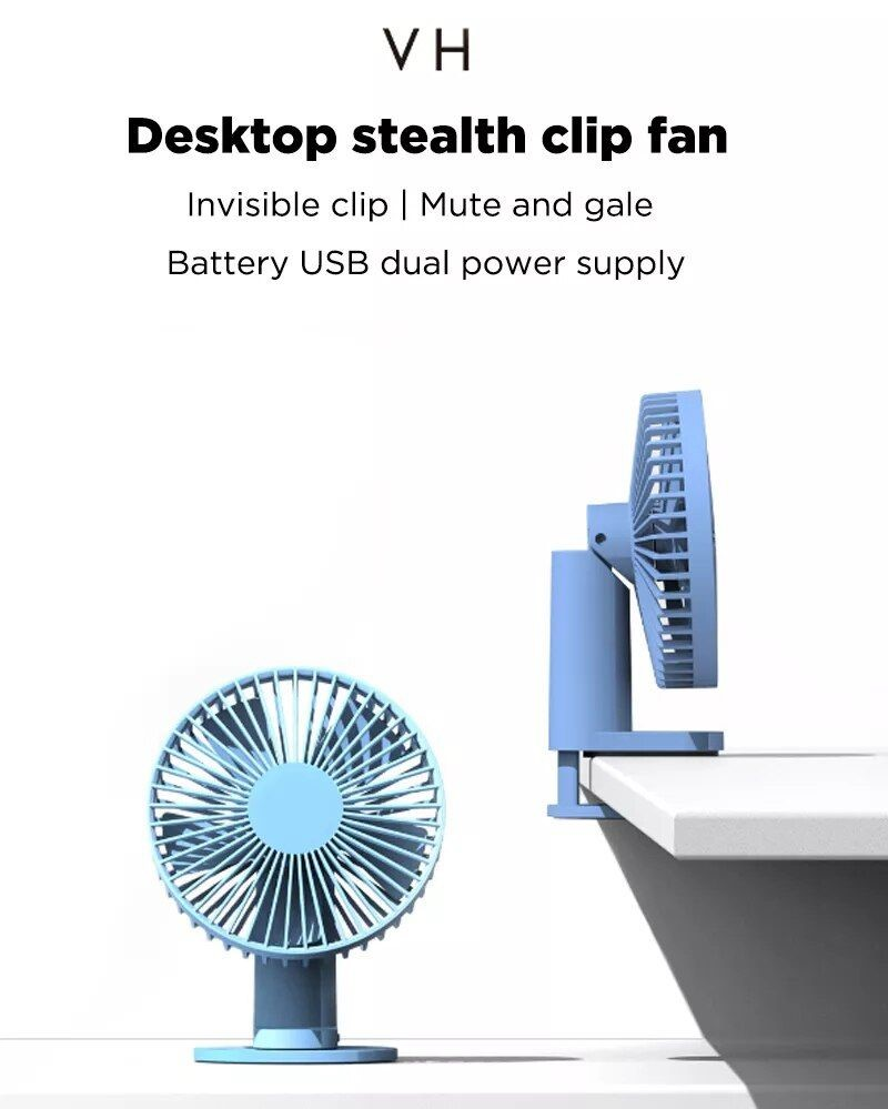 Xiaomi Mi Vh F04 Clip Stand Table Desktop Usb Fan (3)
