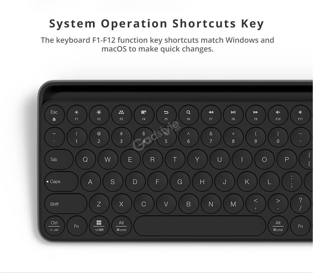 Xiaomi Miiiw Mini Bluetooth Dual Mode Keyboard 85 Keys (4)