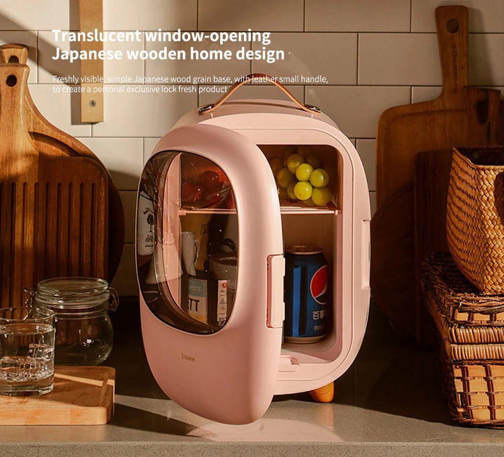 Baseus Desktop 8l Mini Fridge Car Household Refrigerator Warmer And Cooler (3)