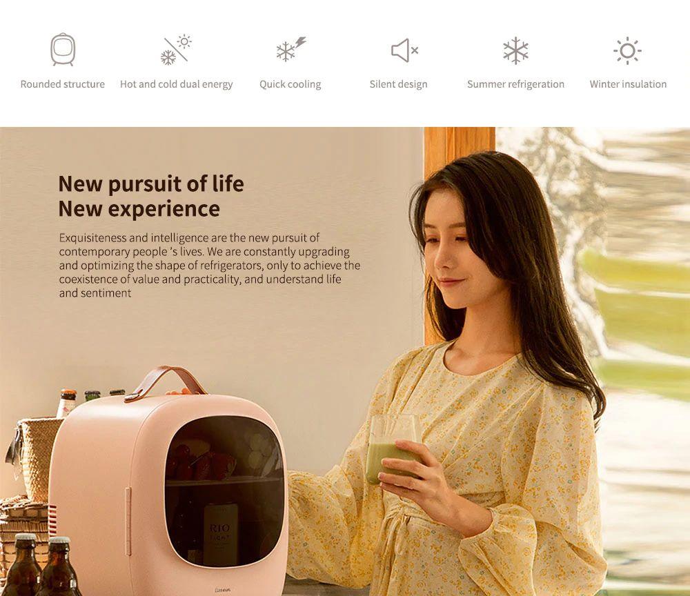 Baseus Desktop 8l Mini Fridge Car Household Refrigerator Warmer And Cooler (5)