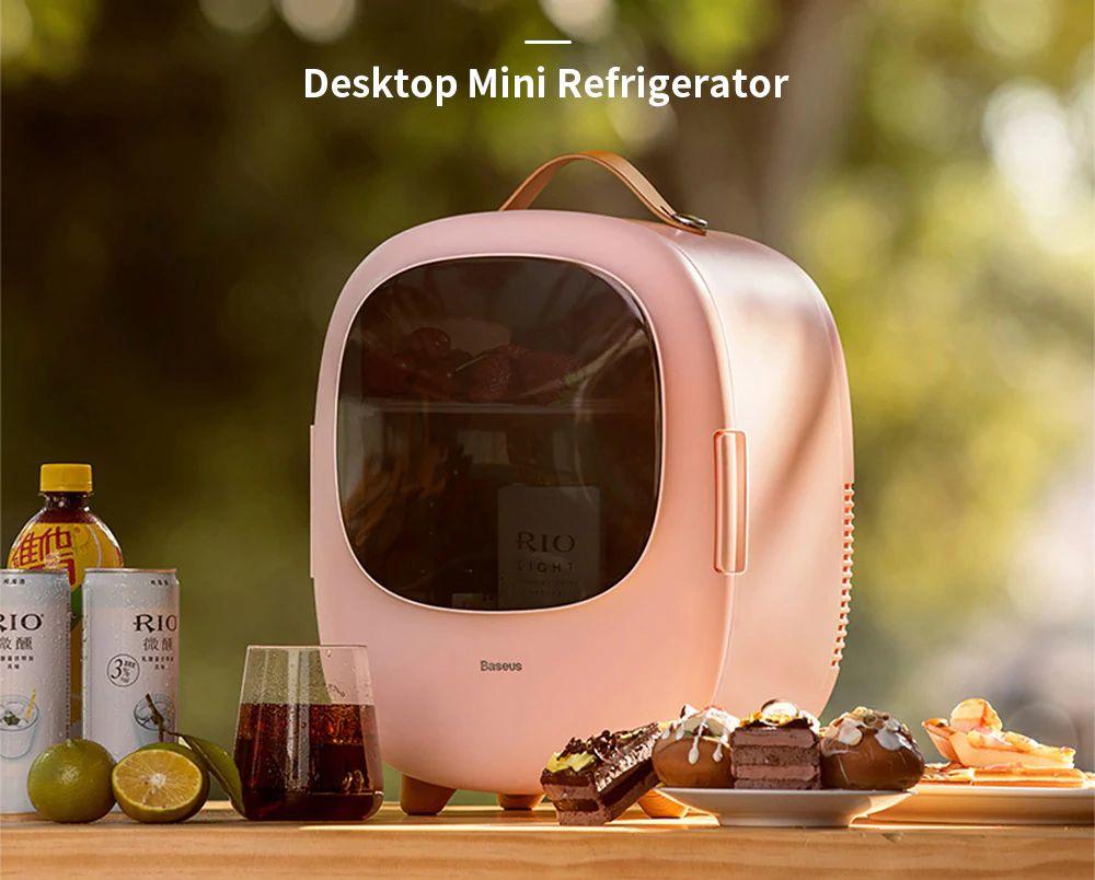 Baseus Desktop 8l Mini Fridge Car Household Refrigerator Warmer And Cooler (6)