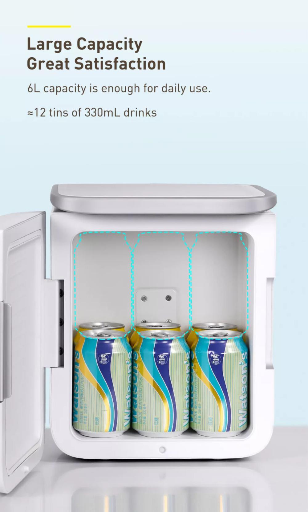 Baseus Igloo Mini Fridge For Students 6l Cooler And Warmer (4)