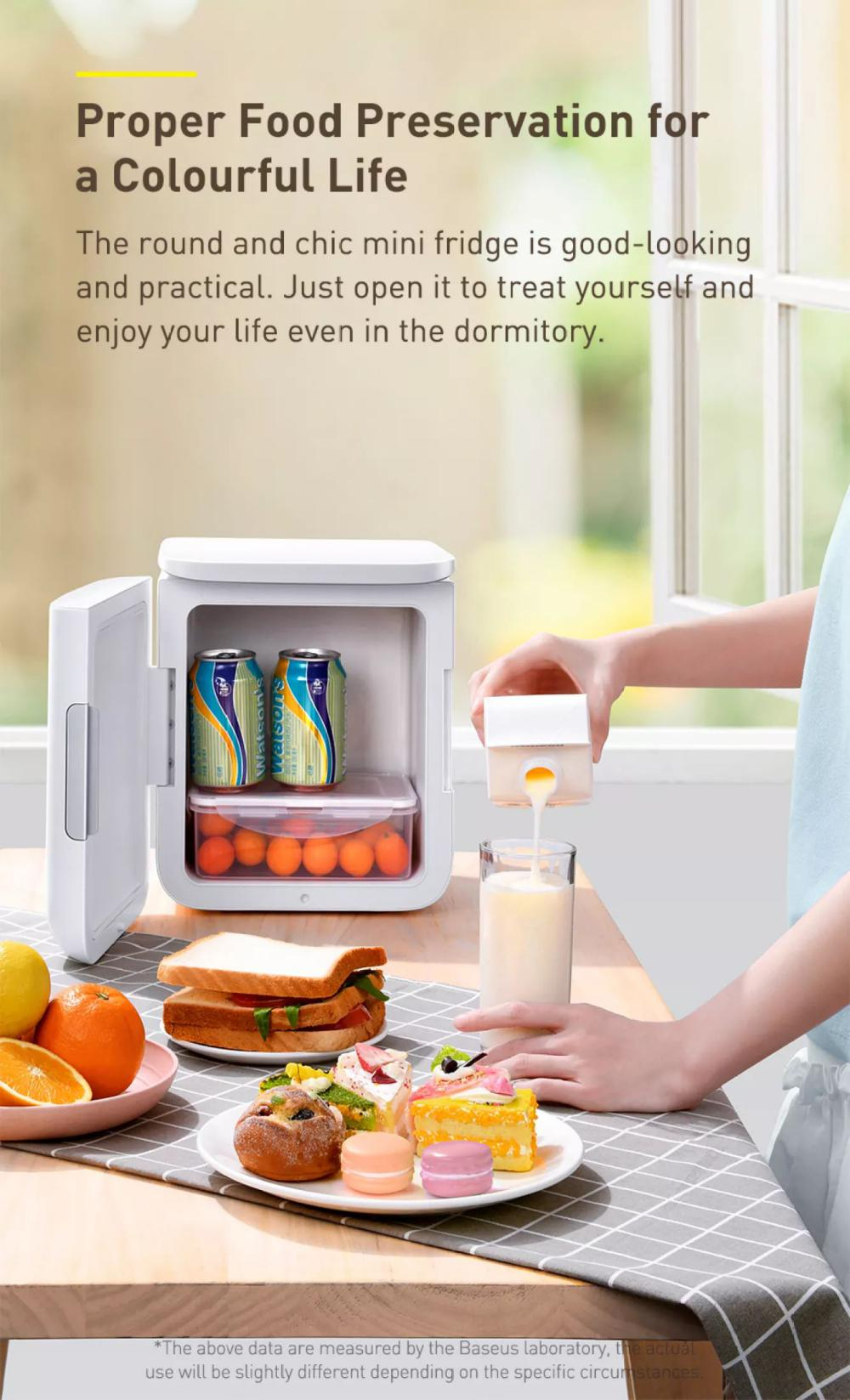 Baseus Igloo Mini Fridge For Students 6l Cooler And Warmer (6)