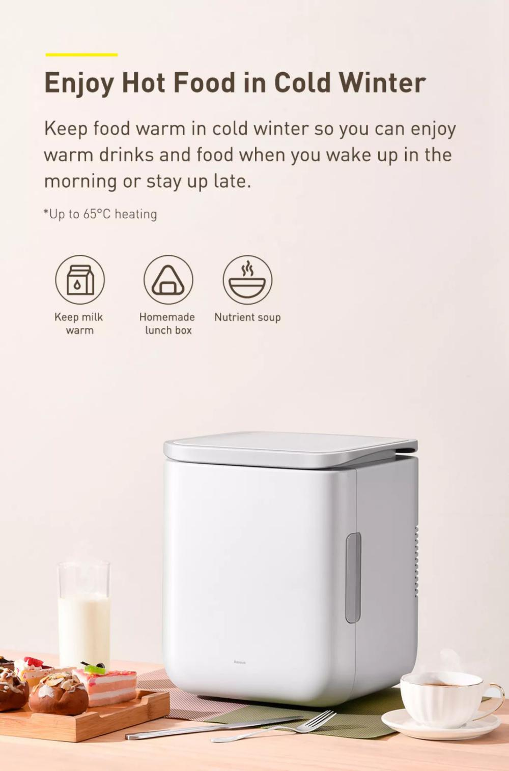 Baseus Igloo Mini Fridge For Students 6l Cooler And Warmer (7)