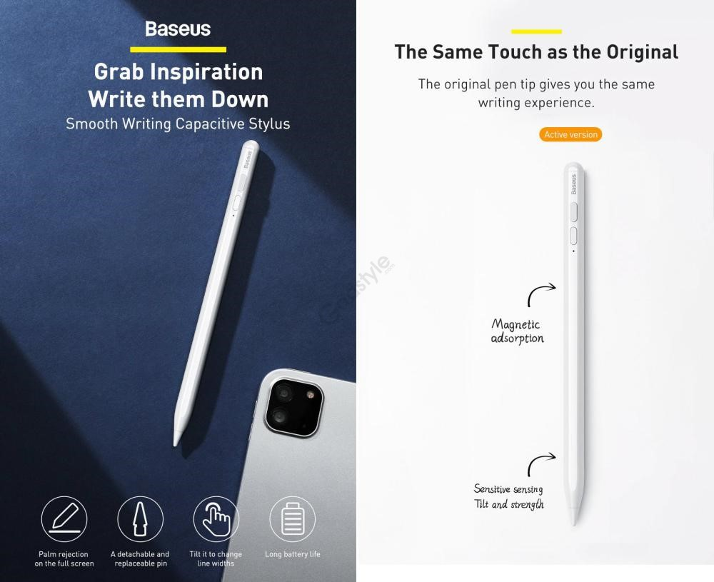 Baseus Smooth Writing Capacitive Stylus Pen With Type C Charging Port (2)