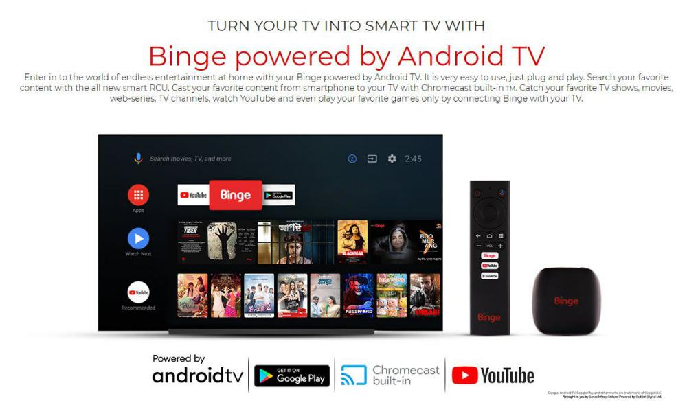 Binge Android Tv Device With Chromecast Built In (2)