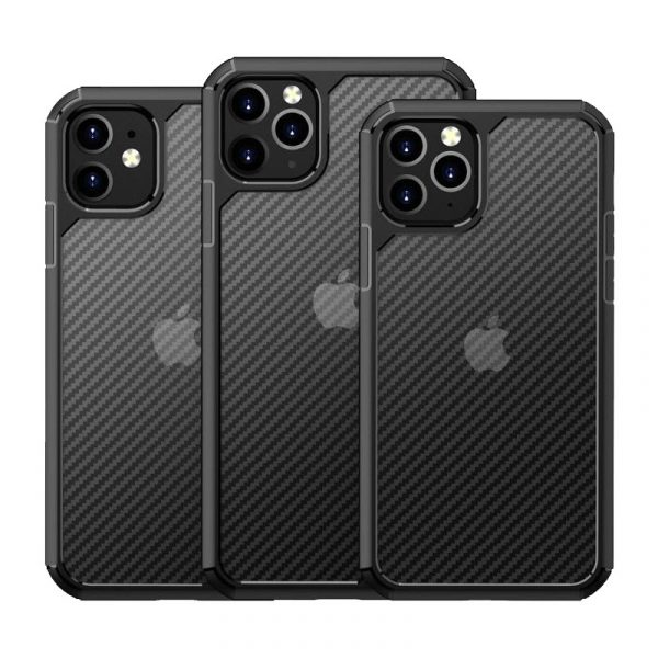 Carbon Fiber Textures Shockproof Bumper Case For Iphone 12 Iphone 11 11 Pro 11 Pro Max (4)