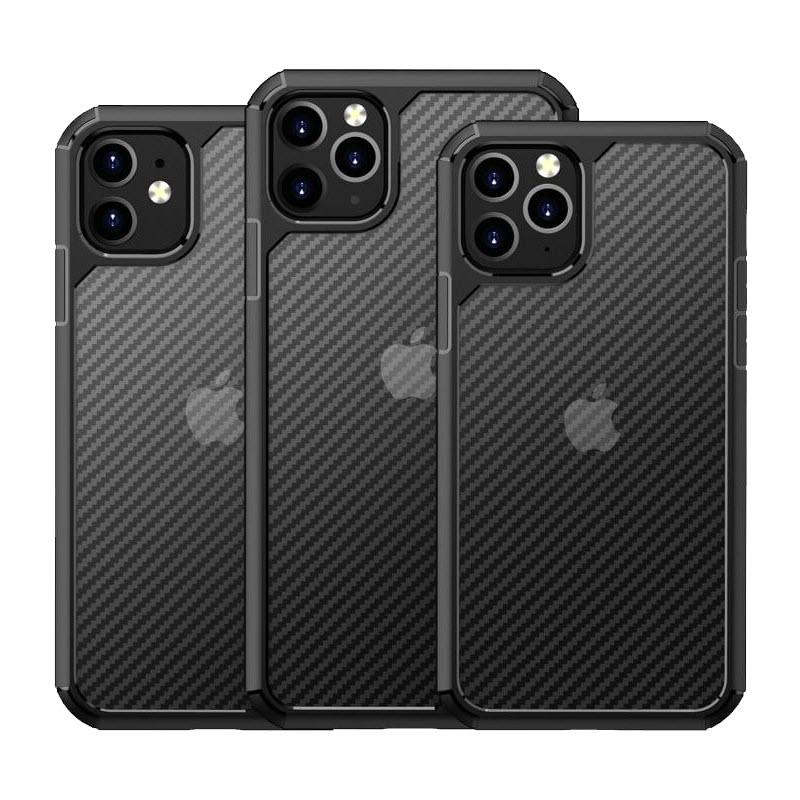 Carbon Fiber Textures Shockproof Bumper Case For Iphone 12 Iphone 11 11 Pro 11 Pro Max (4)