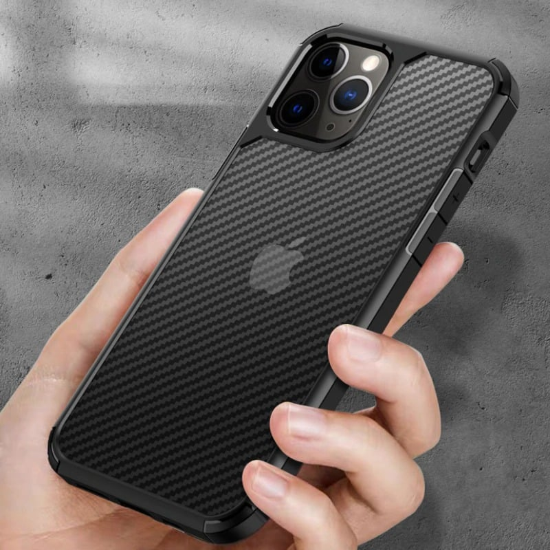 Carbon Fiber Textures Shockproof Bumper Case For Iphone 12 Iphone 11 11 Pro 11 Pro Max (5)