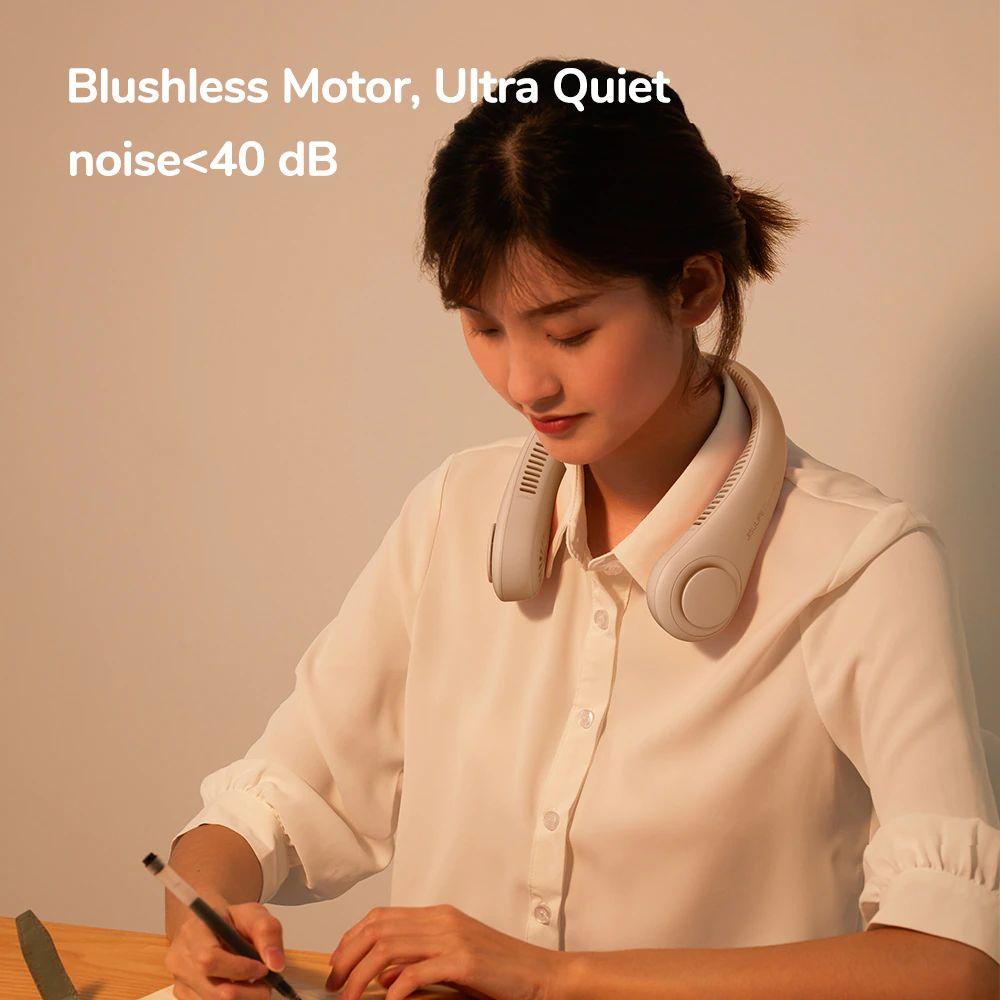 Jisulife Neck Fan Rechargeable Fan 4000mah Silent Usb Portable Bladeless Fan (3)