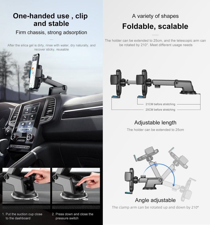 Joyroom Jr Ok3 Adjustable Length Car Phone Holder (2)