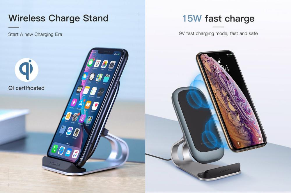 Kuulaa Kl Zj01 Wireless Charge Stand Double Coil Fast Charge 10w (1)