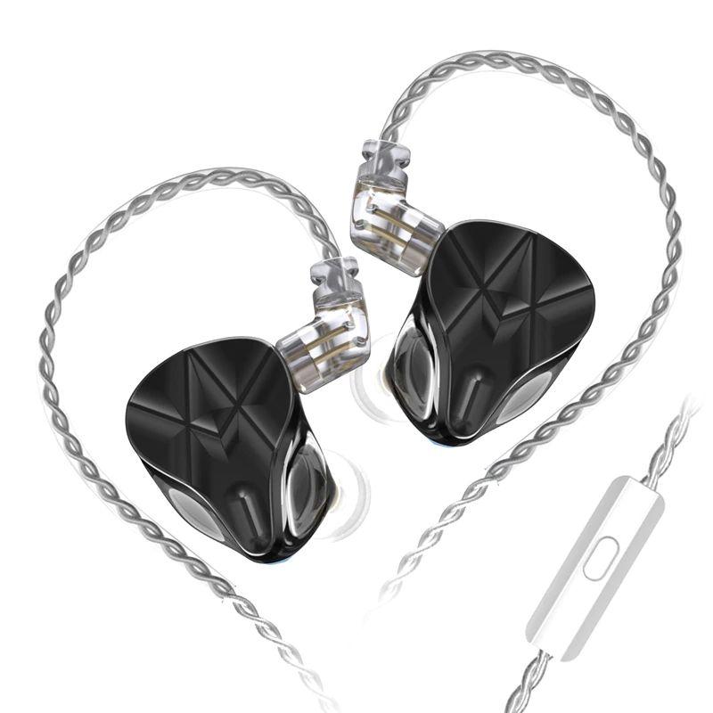 Kz Asf Earphones 10 Ba Units Hifi Bass Balanced Armature Earphones Black (7)