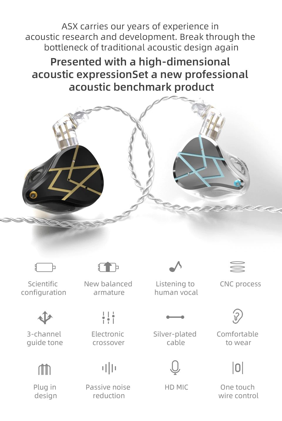 Kz Asx 20 Units Balanced Armature Earphones (1)