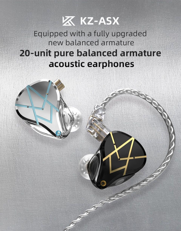 Kz Asx 20 Units Balanced Armature Earphones (3)
