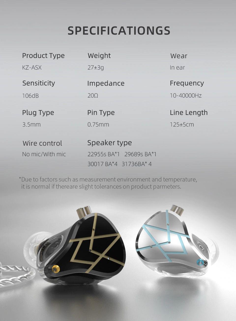 Kz Asx 20 Units Balanced Armature Earphones (4)