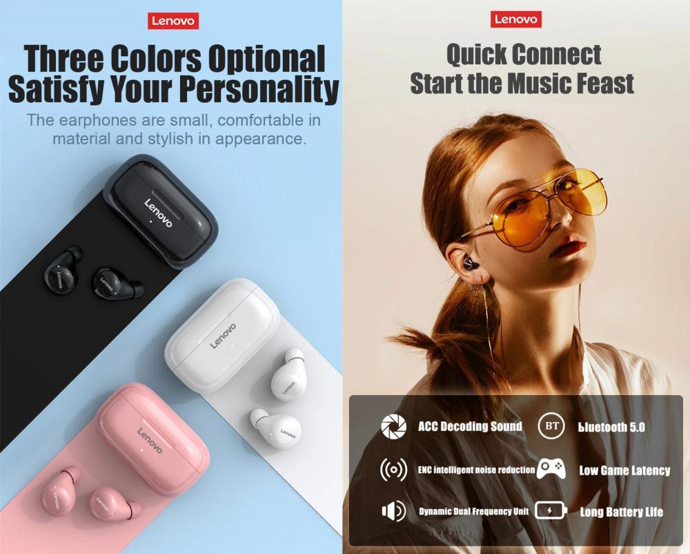 Lenovo Lp11 Twswireless Bluetooth V5 0 Earbuds (4)