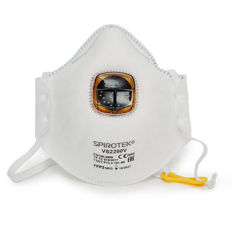 Spirotek Vs2200v Respirator Ffp2 Valve Mask (1)